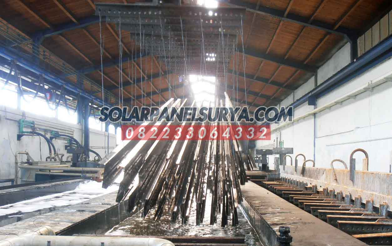 pabrikasi tiang pju galvanis bulat 6 meter