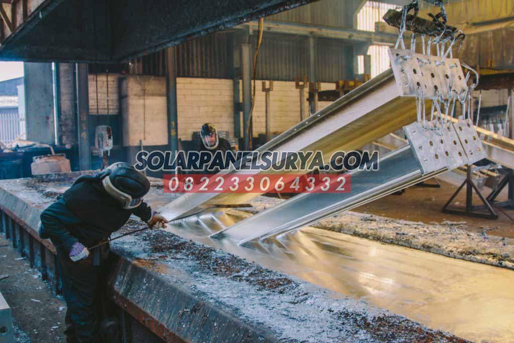 pabrikasi tiang pju galvanis bulat 8 meter