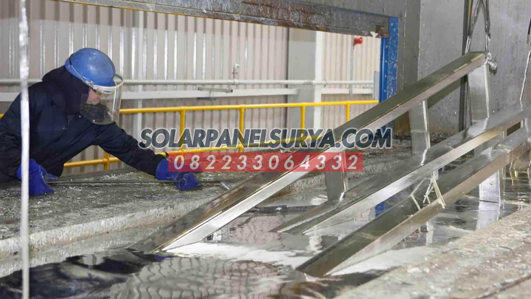pabrikasi tiang pju galvanis bulat 9 meter