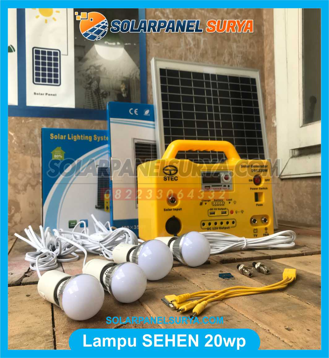 lampu sehen 20wp solar cell