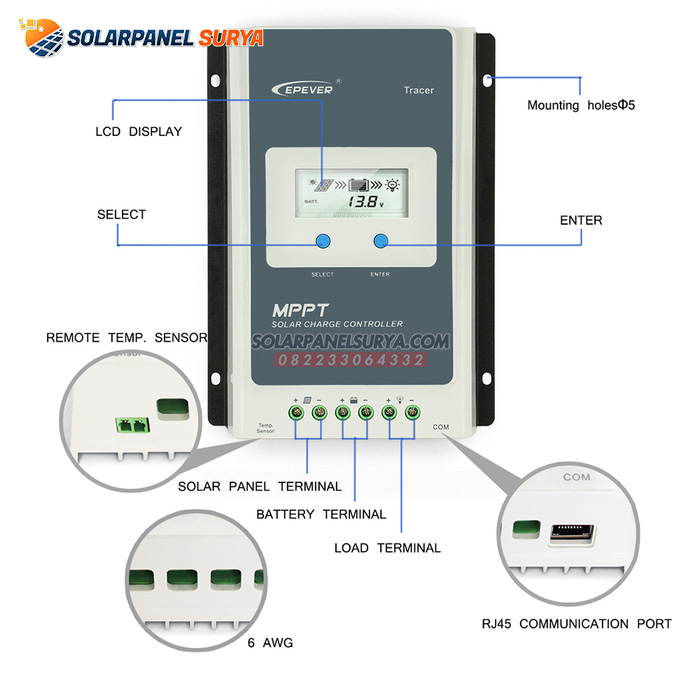 Solar Charge Controller 20A mppt