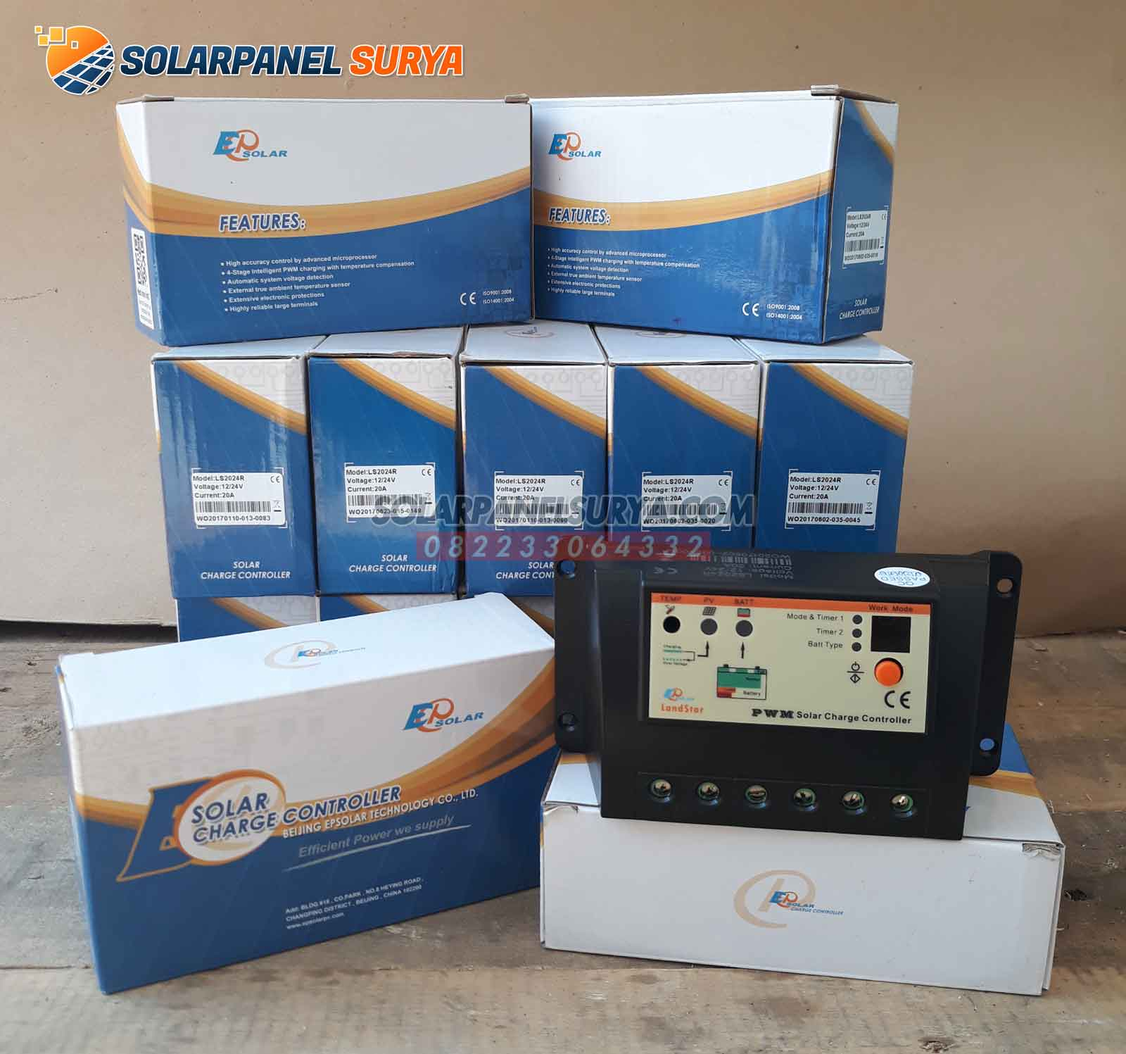 Solar Charge Controller Panel Surya PWM 20A