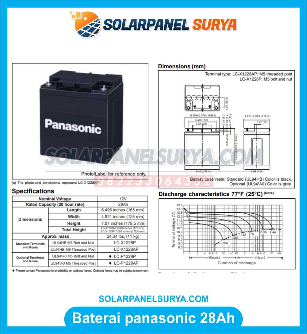 Baterai VRLA Panasonic 12v 28Ah