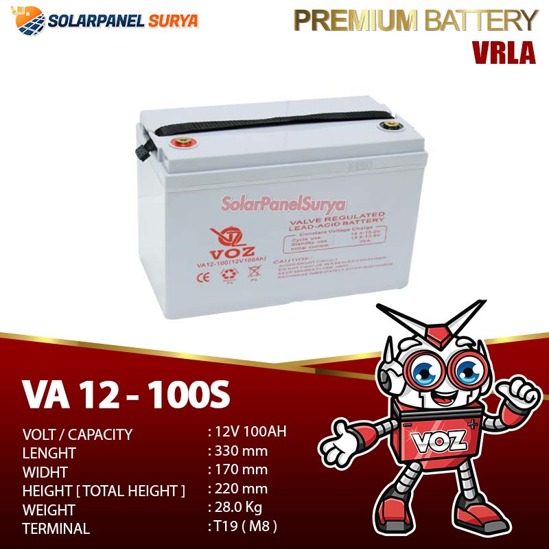 Baterai VRLA Voz 12v 100Ah agm