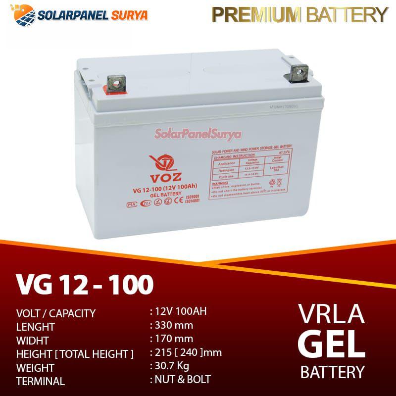 Baterai VRLA Voz 12v 100Ah gel