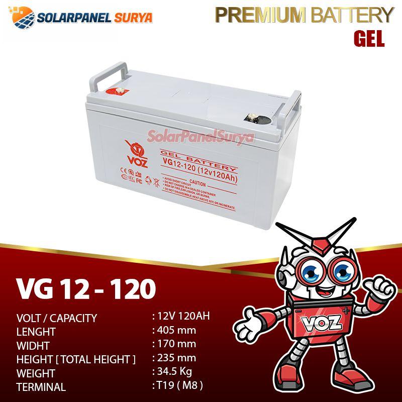 Baterai VRLA Voz 12v 120Ah gel