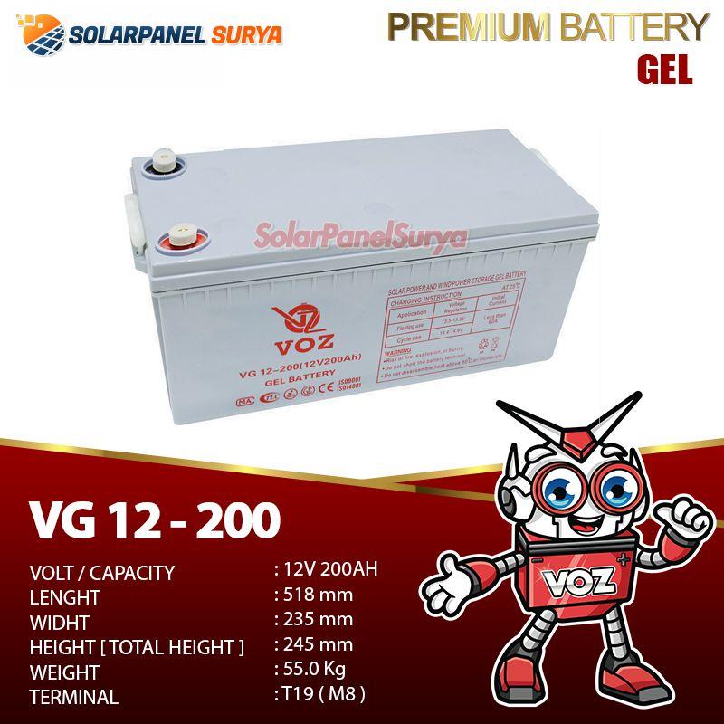 Baterai VRLA Voz 12v 200Ah gel