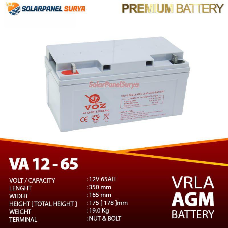 Baterai VRLA Voz 12v 65Ah agm