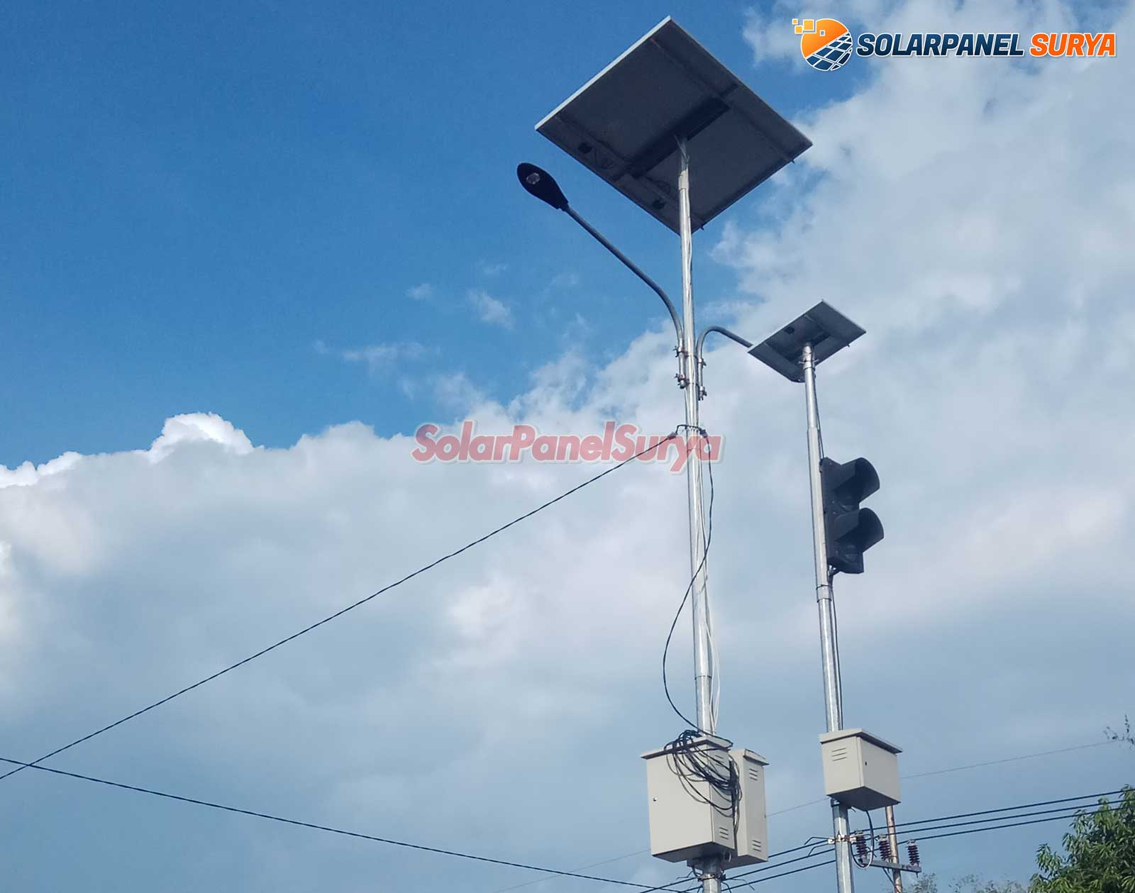 paket pju tenaga surya gorontalo satu set