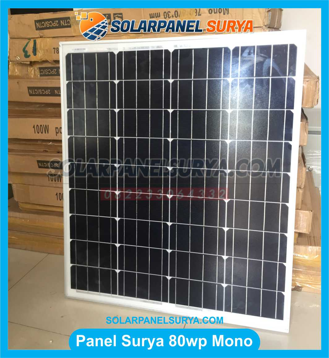 Jual Solar Panel 80 WP Monocrystalline