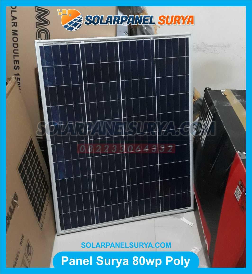Jual Solar Panel 80 WP Polycrystalline