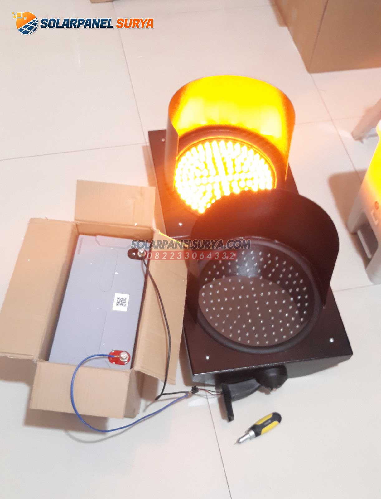 Lampu Hati Hati Warning Light 2 Aspek 30 cm