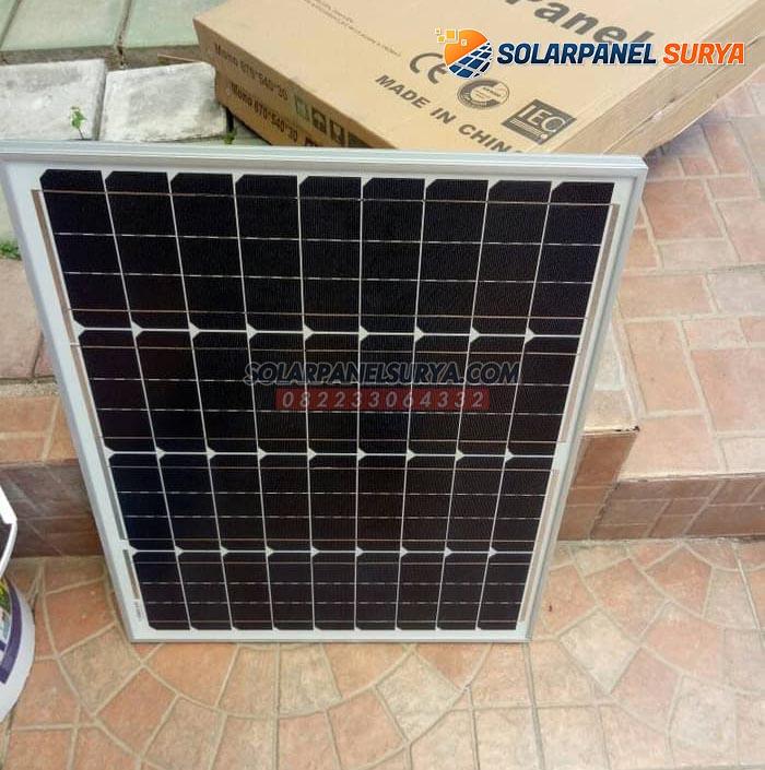 harga Panel Surya 50 WP Monocrystalline murah bergaransi