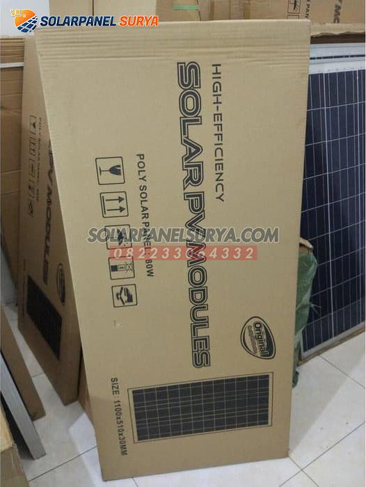 harga solar panel solar cell 80 wp polycrystalline