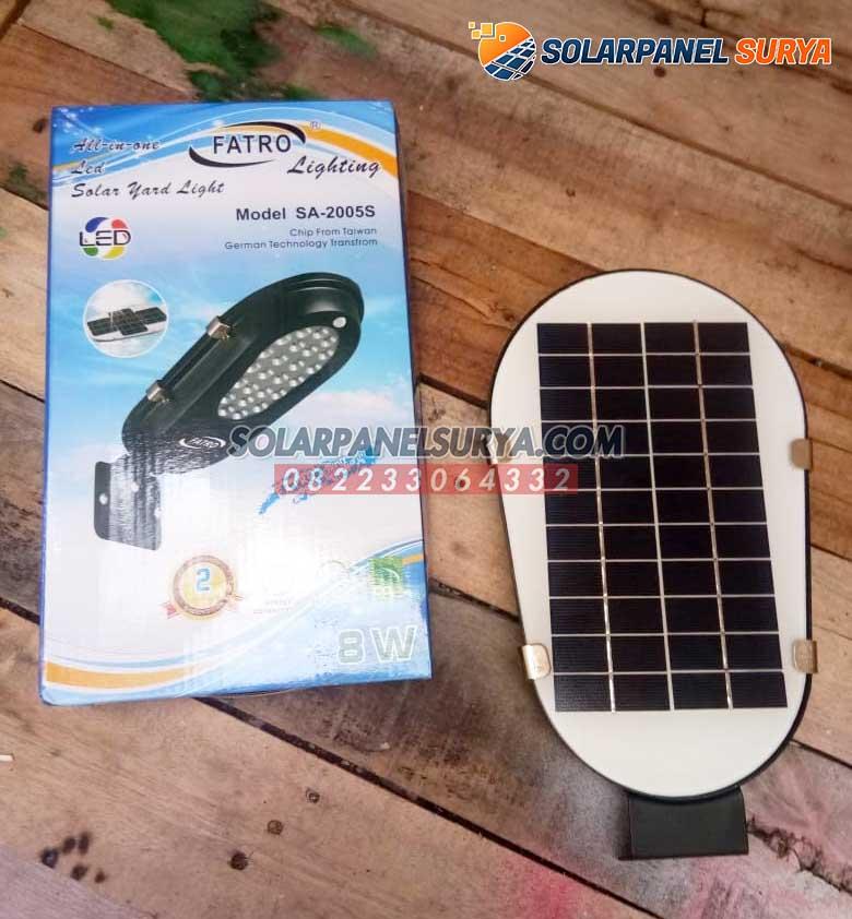Lampu Jalan PJU Tenaga Surya All In One Fatro 8 Watt Solarcell