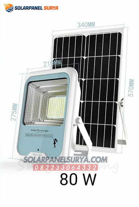 Lampu Taman Two In One Solar Cell 80W
