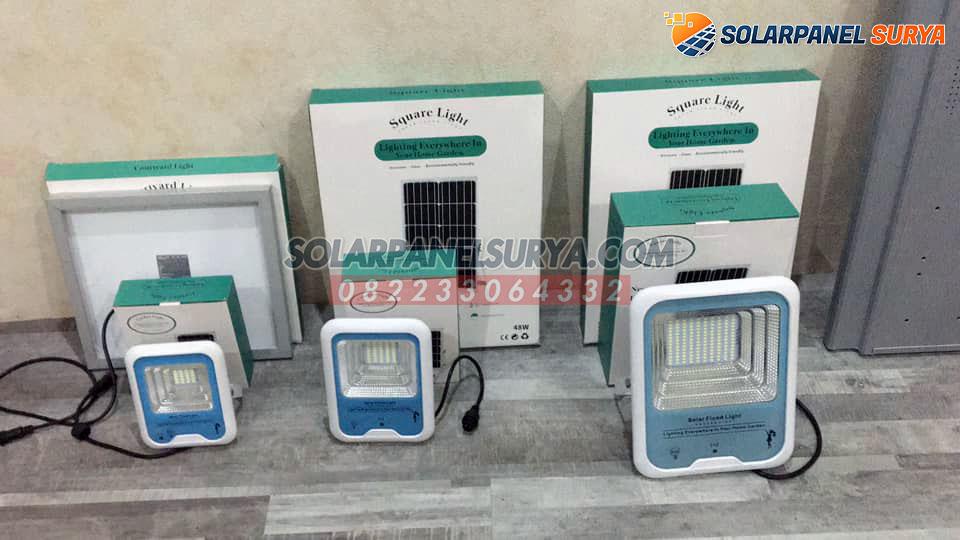 distributor lampu taman sorot solarcell 25 watt tenaga surya