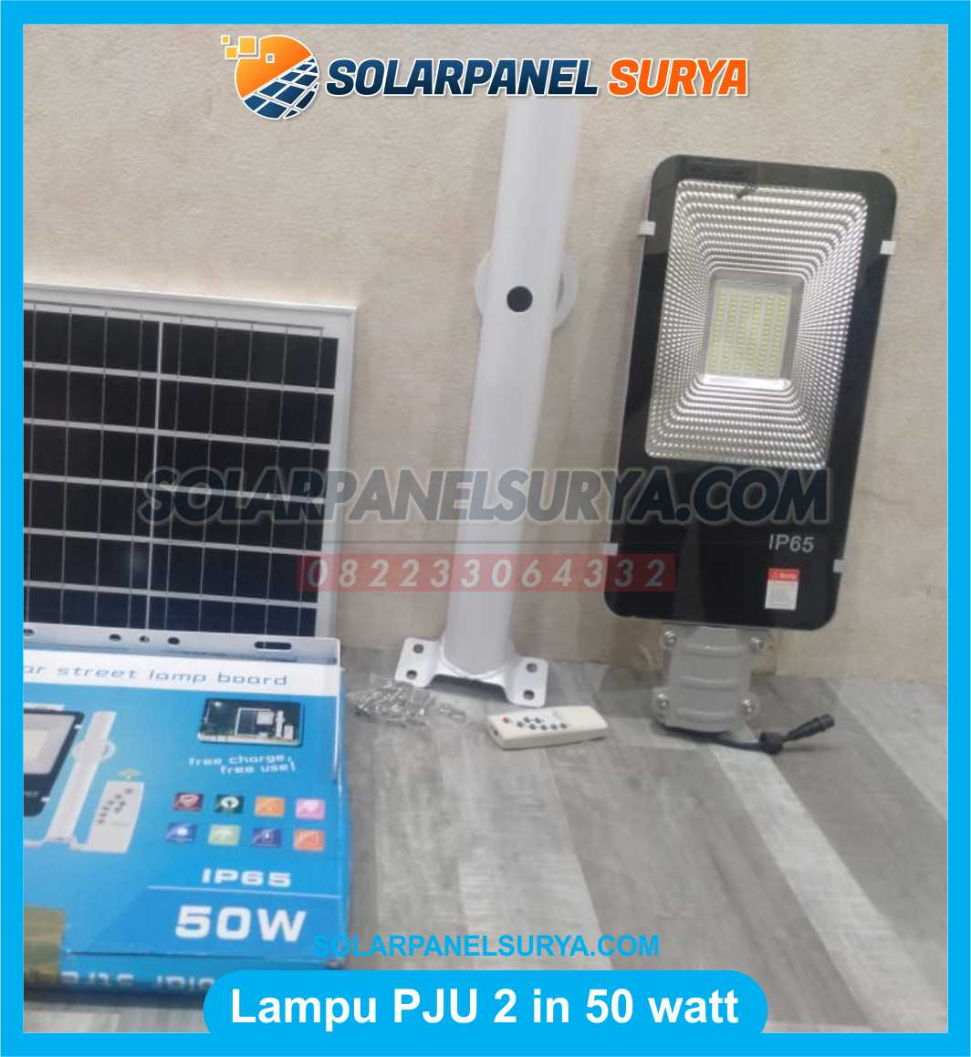 jual Lampu PJU Solar Cell 2 In 1 50W Tenaga Surya