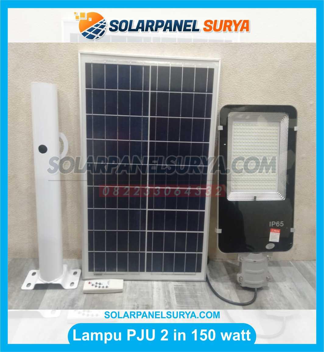 jual lampu pju solarcell 2in1 150 watt tenaga surya