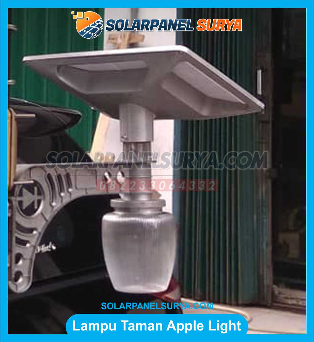 jual lampu taman led tenaga surya apple light