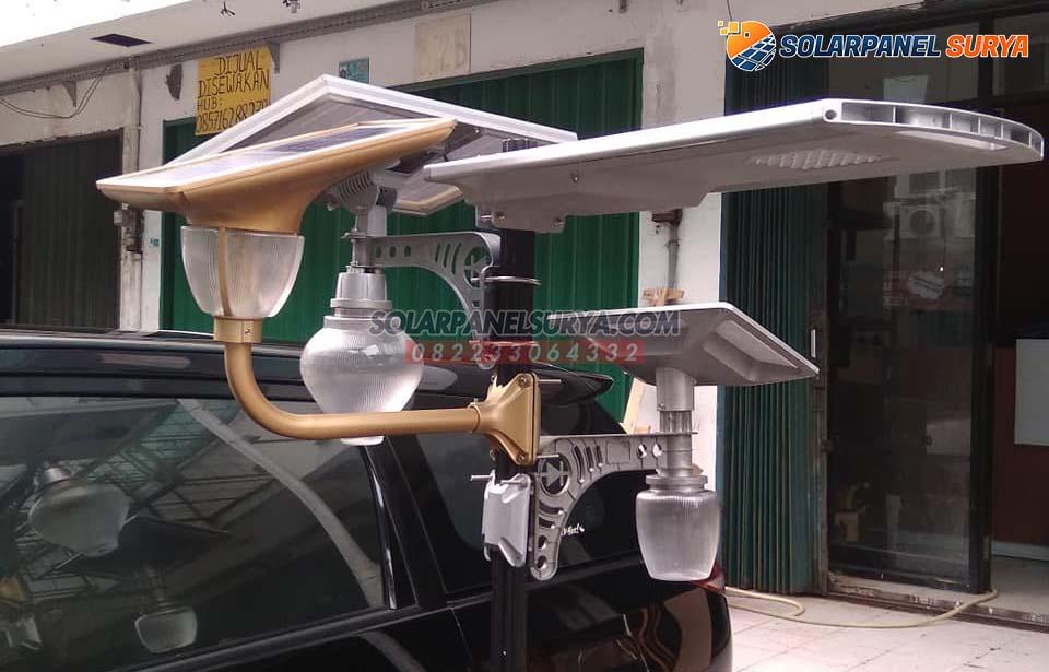 lampu taman minimalis solar cell lotus light 7 watt tenaga surya