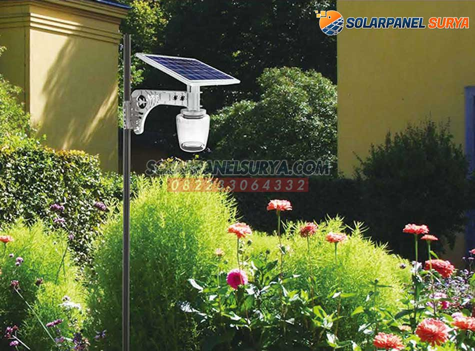 lampu taman minimalis tenaga surya apple light 7 watt