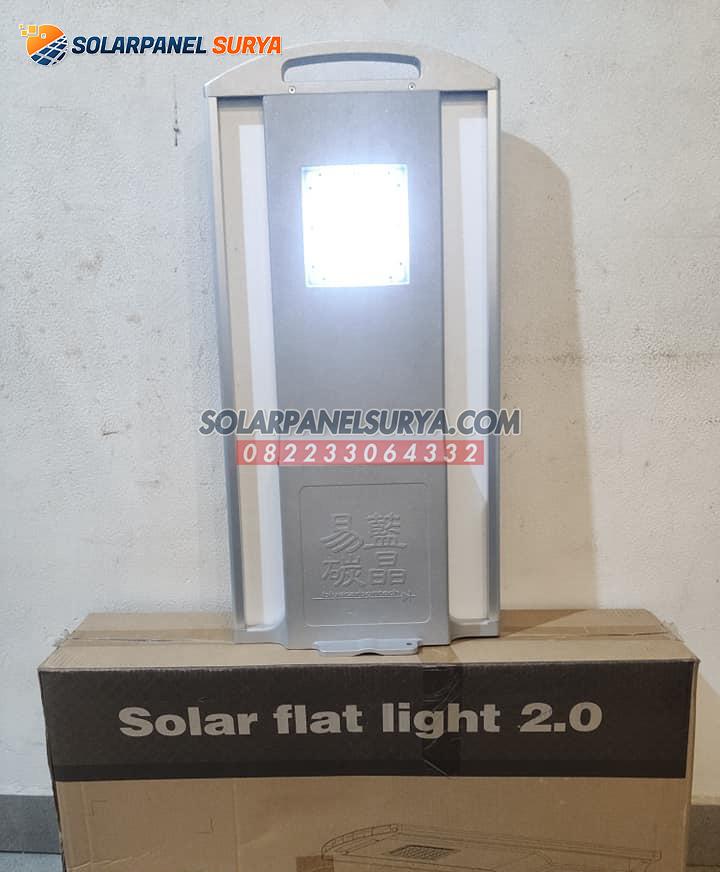 jual Lampu PJU All In One 20 Watt Solarcell Flat Light murah bergaransi