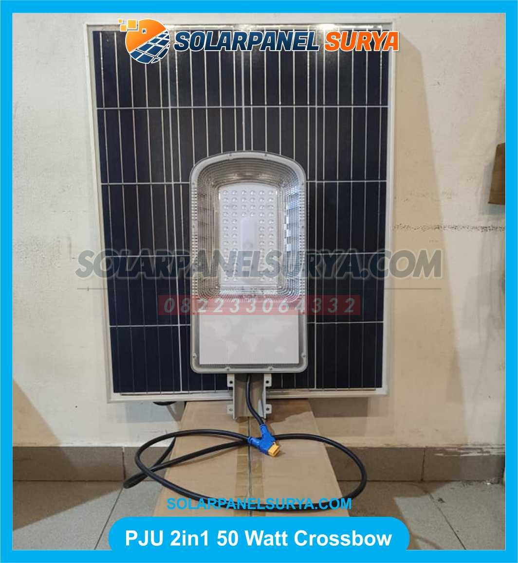 Lampu Jalan PJU Solarcell Two In One Crossbow Light 50 watt
