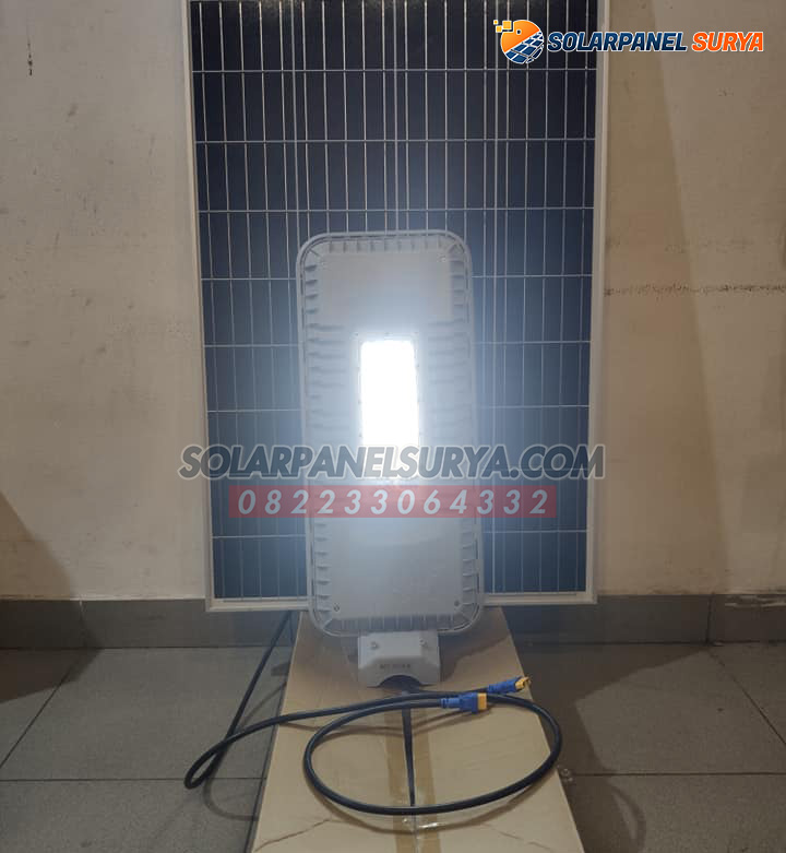 Paket PJU Solar Cell 60 watt 2 in 1 tenaga surya blue fire light