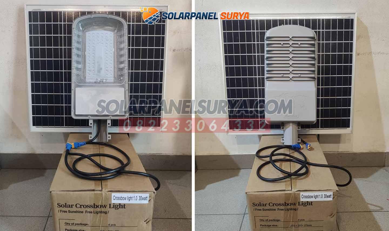 jual PJU 2 In 1 30 Watt Tenaga Surya Crossbow Light murah bergaransi