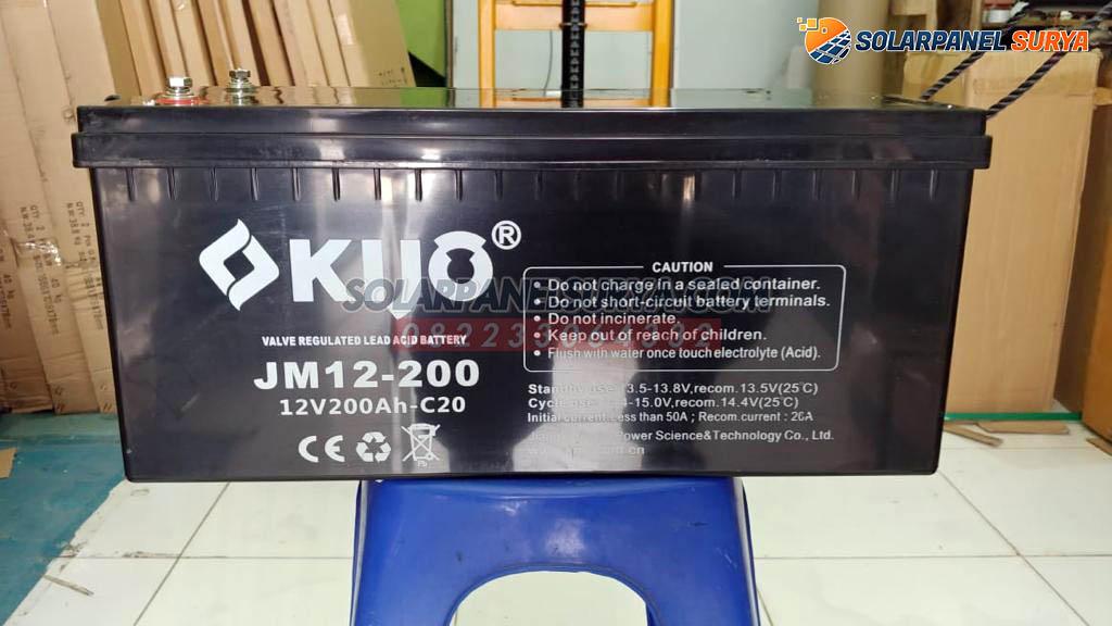 Baterai Aki VRLA Kijo Gel 12v 200Ah Deep Cycle