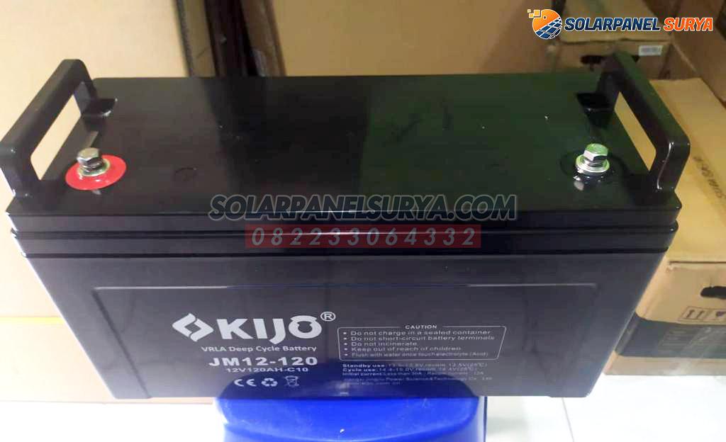 distributor Baterai VRLA Kijo 12v 120Ah deep cycle