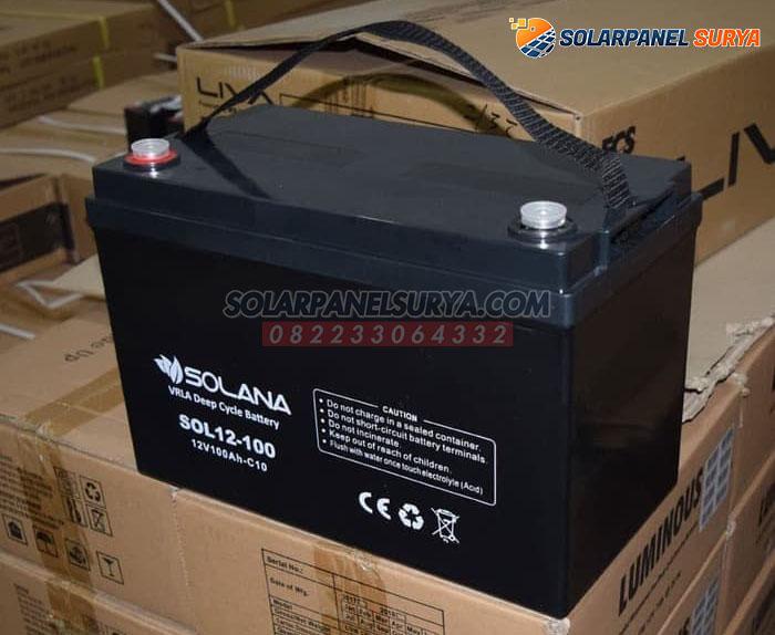 distributor Baterai VRLA Solana 12v 100Ah deep cycle