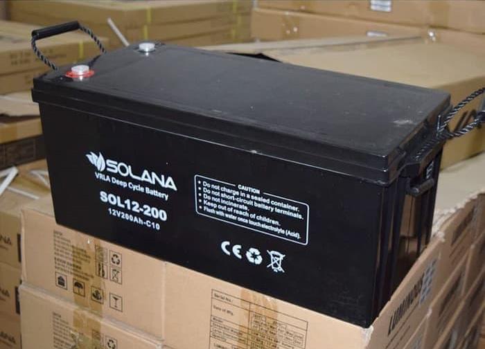 distributor Baterai VRLA Solana 12v 200Ah deep cycle