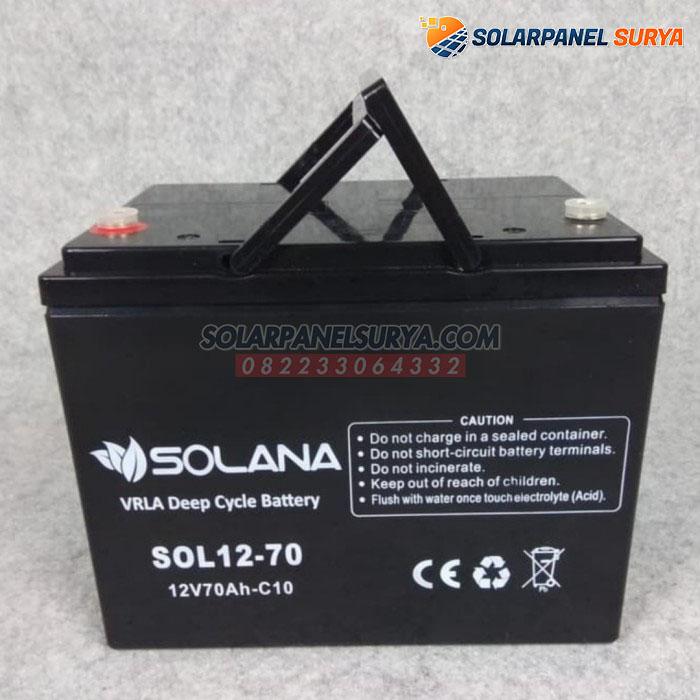 distributor Baterai VRLA Solana 12v 70Ah deep cycle