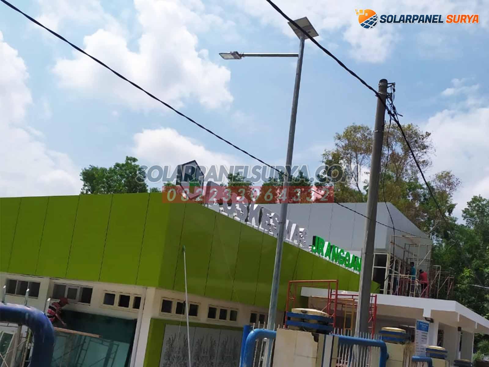 Proyek Lampu Jalan PJU Tenaga Surya di Omben Sampang Madura