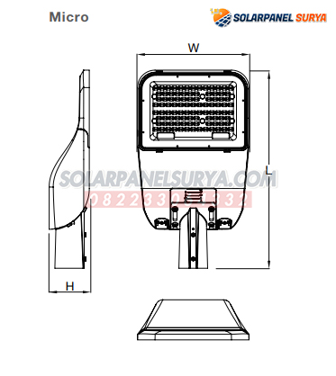spesifikasi PJU Led Osram Simplitz 30 Watt PLN