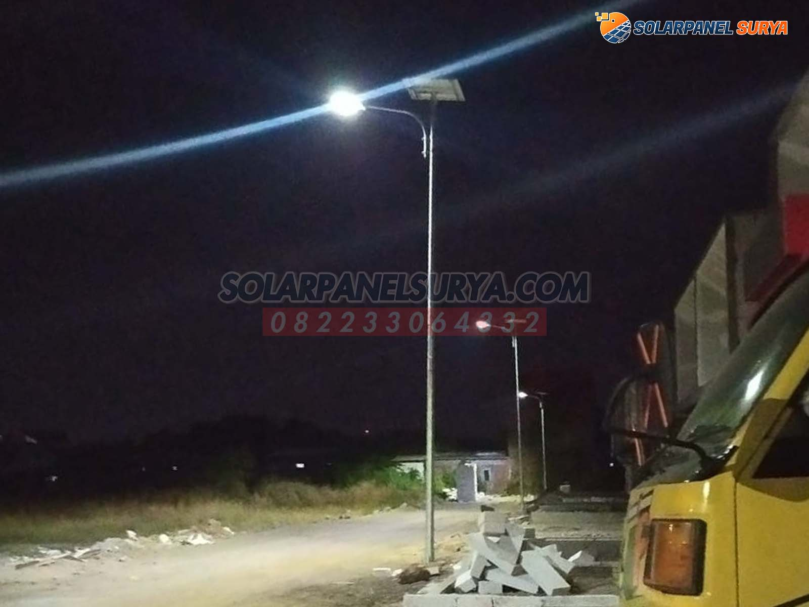 Lampu Penerangan Jalan Umum Tenaga Surya 2 in 1 60 Watt