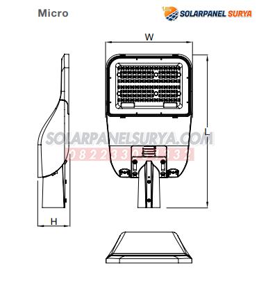 spesifikasi PJU Led Osram Simplitz 60 Watt PLN