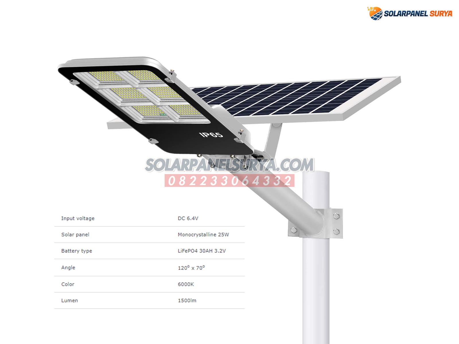 jual Lampu PJU Solarcell 2in1 150 Watt murah bergaransi