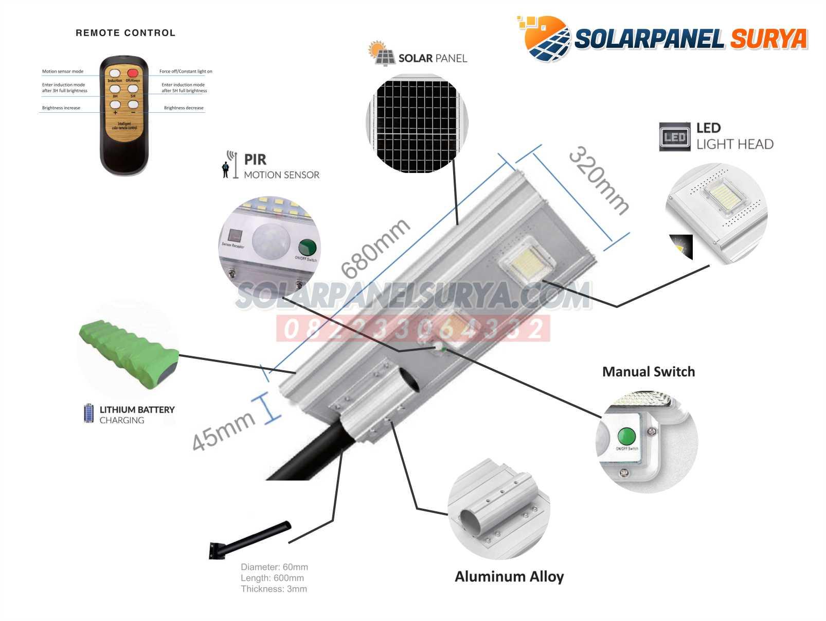 jual PJU Solarcell All In One 200 Watt